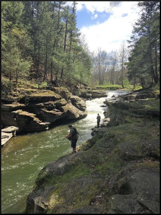Fishing on the Meshoppen Creek in Susquehanna County, Pennsylvania